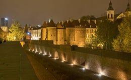 Warsaw At Night Royalty Free Stock Images
