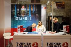 Turkish Airlines at the TT Warsaw 2017 stock photography