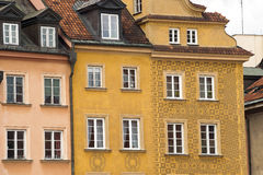 Warsaw old buildings Royalty Free Stock Photography