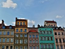 Warsaw old city Royalty Free Stock Photo