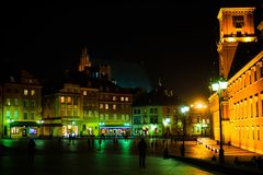 Warsaw old city center Royalty Free Stock Photography