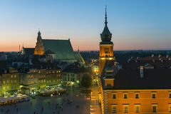 Warsaw old city Stock Photography