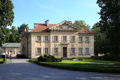 Warsaw. The old-styled building in Wilanow royal garden Royalty Free Stock Photography