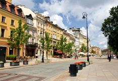 Warsaw Old Town. Warsaw, street in Old Town, Poland stock photography