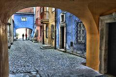 Warsaw old town. Warsaw, Poland. Old Town street. UNESCO World Heritage Site royalty free stock photography