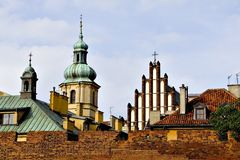 Warsaw old town. Old town ancient buildings - Warsaw, Poland Royalty Free Stock Photos