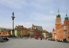 Warsaw, old town. Landscape, poland royalty free stock photography