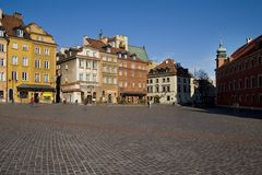 Warsaw old town architecture. Old town architecture in Warsaw, Poland Royalty Free Stock Image