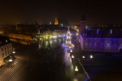 Warsaw Old Town, Christmas time. Urban Photography Stock Photography