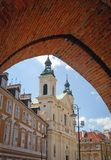 Warsaw Old Town. Church of the Holy Spirit on the Old Town of Warsaw city royalty free stock image