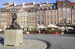 Warsaw old town marketplace Royalty Free Stock Photography