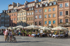 Warsaw old town marketplace square Royalty Free Stock Photos