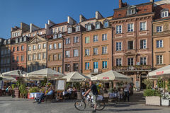 Warsaw old town marketplace square Stock Photography