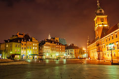 Warsaw. Old Town at night. Warsaw, Poland Stock Images