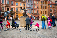 Warsaw old town, Poland Stock Images
