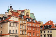 Warsaw Old Town. Warsaw, Poland. Old Town skyline. UNESCO World Heritage Site royalty free stock image