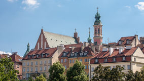 Warsaw old town in Poland Stock Images