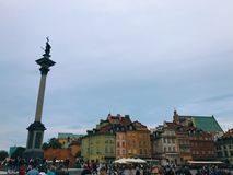Warsaw Old Town Square Royalty Free Stock Photos