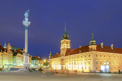 Warsaw. Old Town Square at night. Stock Images