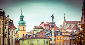 Warsaw Old Town Square stock photos