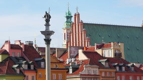 warsaw old town square, poland, timelapse, zoom out, 4k stock video footage