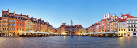 Warsaw, Old town square at summer, Poland, nobody Stock Photos
