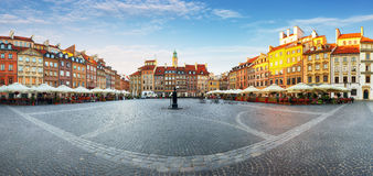 Warsaw, Old town square at summer, Poland, nobody.  Royalty Free Stock Image