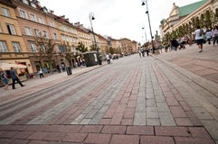 Warsaw old town street Stock Photos