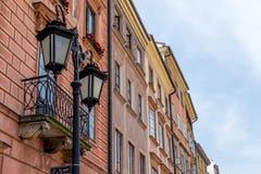 Warsaw old town street Stock Photos