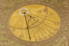 Warsaw Old Town Sundial Stock Photo