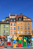 Warsaw old town and UNESCO United Bears Royalty Free Stock Images
