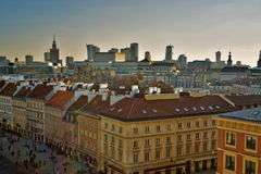Warsaw old town view Stock Photos