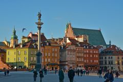 Warsaw old town view Stock Image