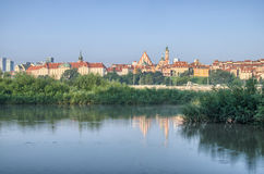 Warsaw Old Town view over Vistula River Stock Images