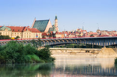 Warsaw Old Town view over Vistula River Stock Image