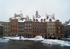 Warsaw old town - in the winter Stock Image