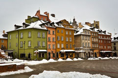 Warsaw Old Town in winter Stock Image