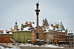 Warsaw Old Town in winter Stock Photos