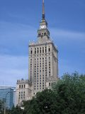 Warsaw palace of culture. This is the highest building in Warsaw. A present of Josef Stalin to the polish folk in 1950s Royalty Free Stock Images