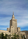 Warsaw palace of culture. Building stock photography