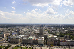 Warsaw from The Palace of Culture and Science Royalty Free Stock Photography