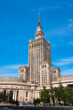 Warsaw, Palace of Culture and Science stock photo