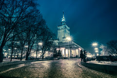 Warsaw Palace of Culture and Science, Poland Royalty Free Stock Photos