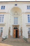 Warsaw. The Palace Myslewicki in Lazienki Park. Royalty Free Stock Photo