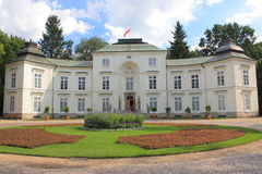 Warsaw, The Palace Myslewicki in Lazienki Park. Stock Photography