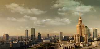 Warsaw Panorama Royalty Free Stock Photo