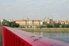 Warsaw panorama and  morning light Royalty Free Stock Image