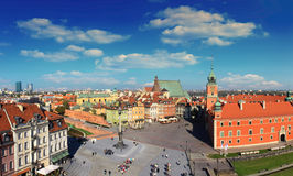Warsaw panorama of old city Royalty Free Stock Image
