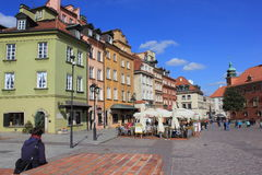 Warsaw pedestrian zone Royalty Free Stock Photography
