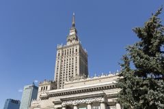 Warsaw, Poland – July 21 2016: The Palace of Culture and Science Stock Photos